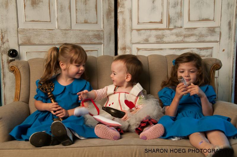 Three girls dressed for Wonderland, Metro Detroit Family Photography