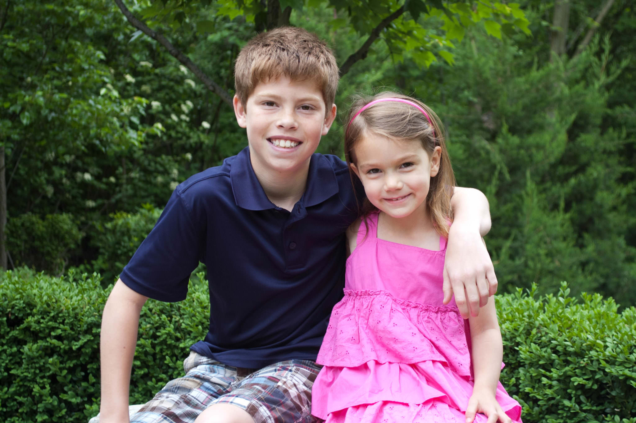 Brother and sister, Northville Family Photography
