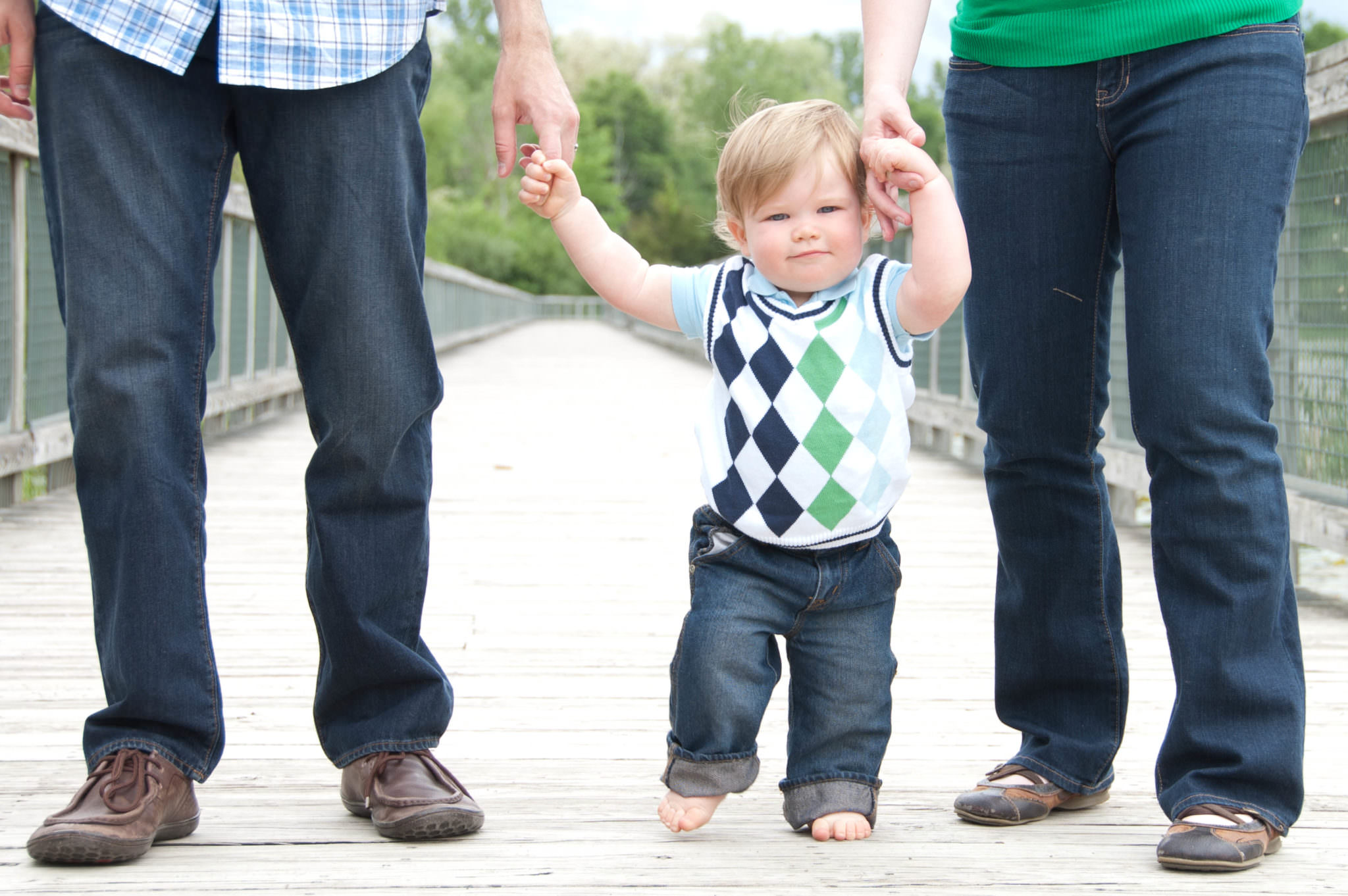 Toddler boy with parents, Northville Child Photographer