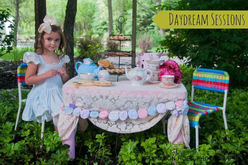 young girls dressed as alice at a wonderland tea party, Metro Detroit Child Photographer