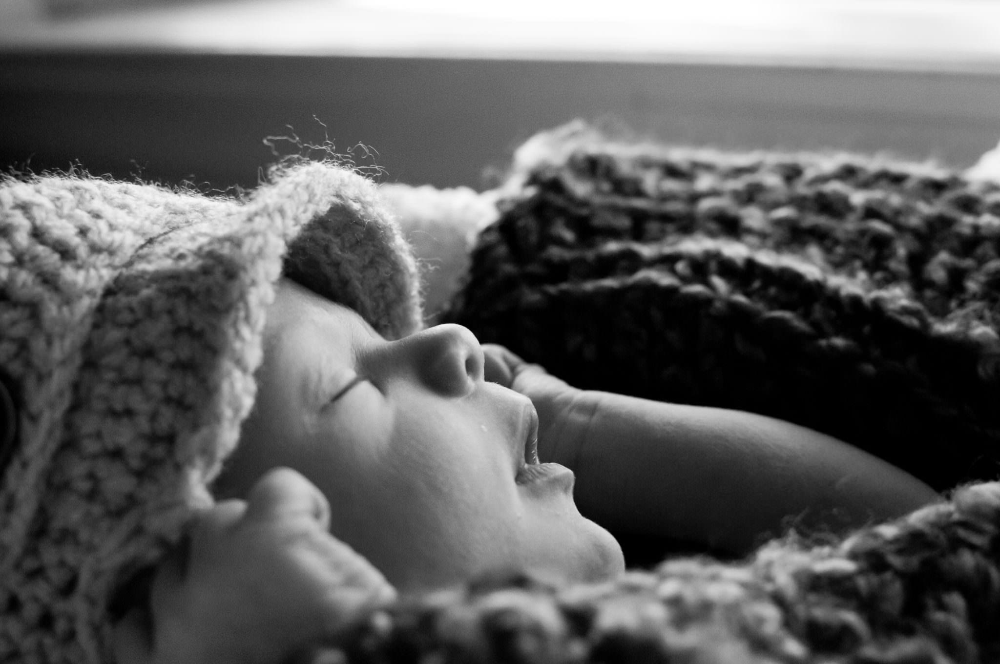 Baby boy in hat, Livonia Baby Photographer