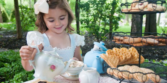Young girl at a tea party, Metro Detroit Child Photographer