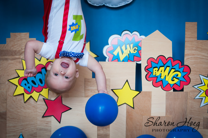 flying superhero baby, Northville Child Photography