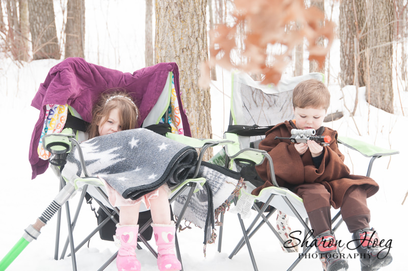kids waiting in chairs behind the scenes