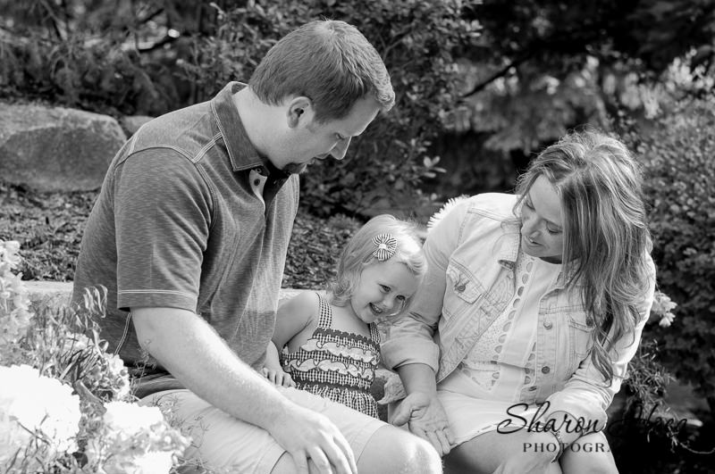 family with one young daughter, Metro Detroit Family Photographer