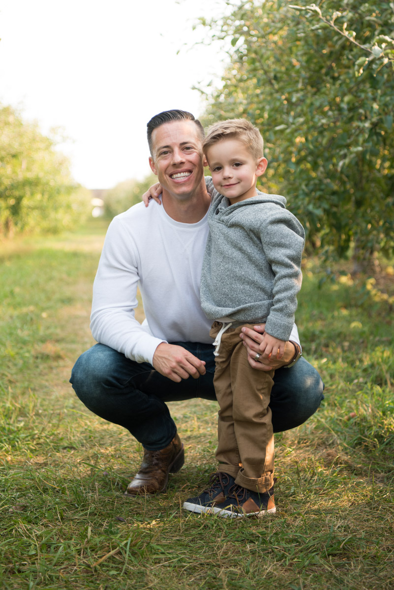 Father son photography in the fall, Metro Detroit Family Photographer
