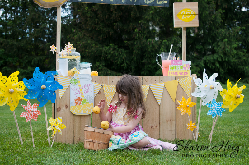 lemonade stand photo shoot, northville photographer