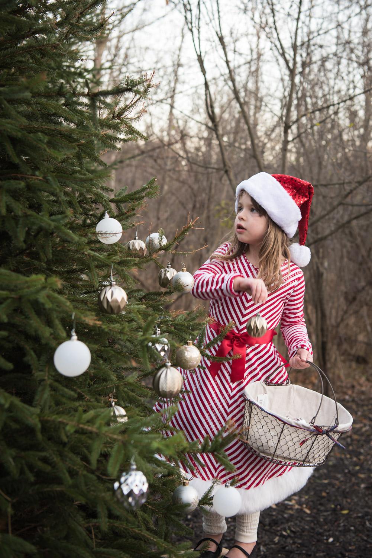 Northville MI Holiday Photographer, tree decorating photos