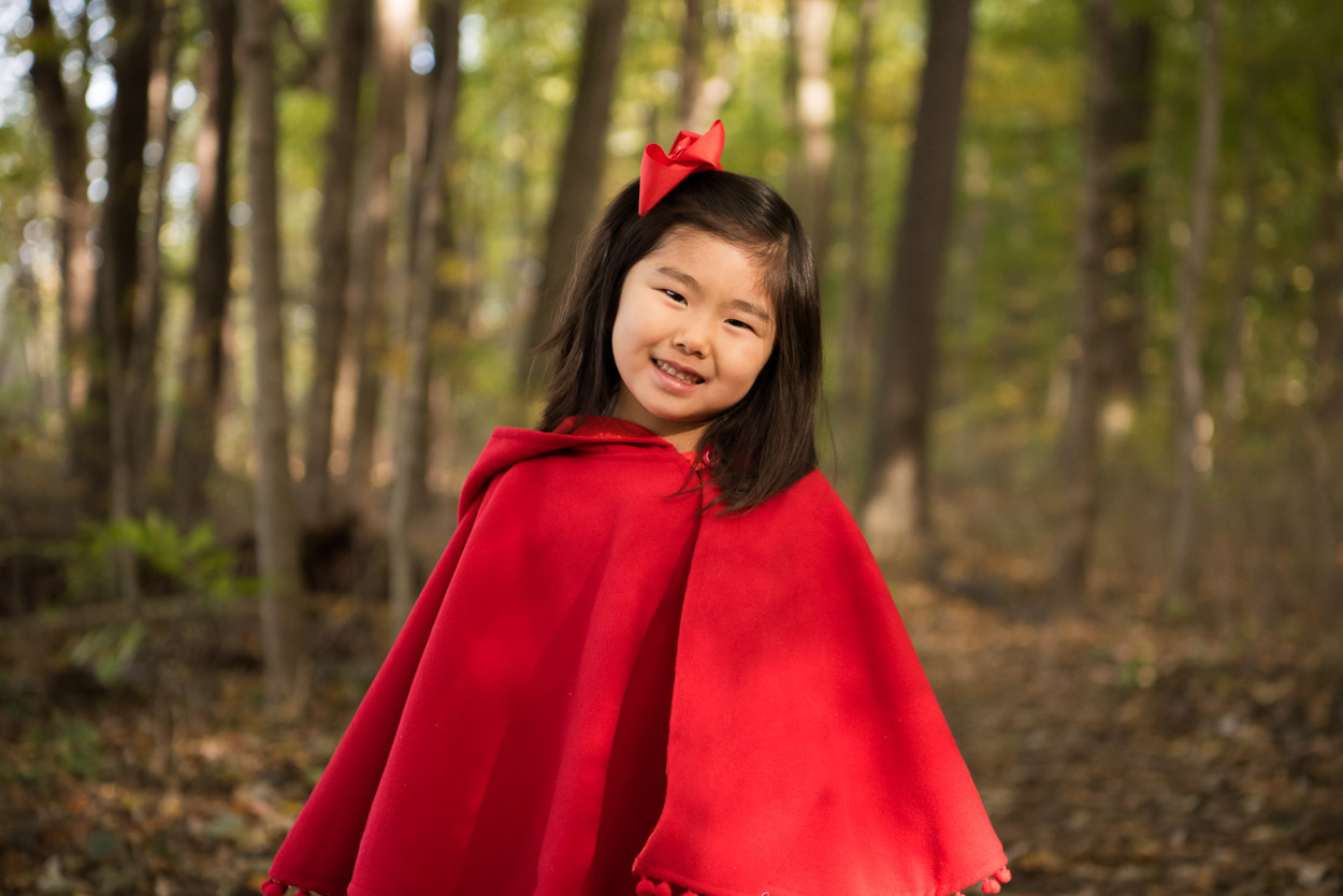 little red riding in the forest, michigan child photographer