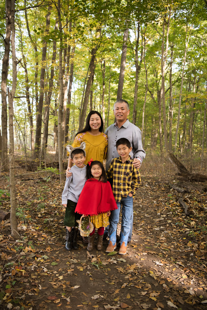 family in the forest, northville photographer