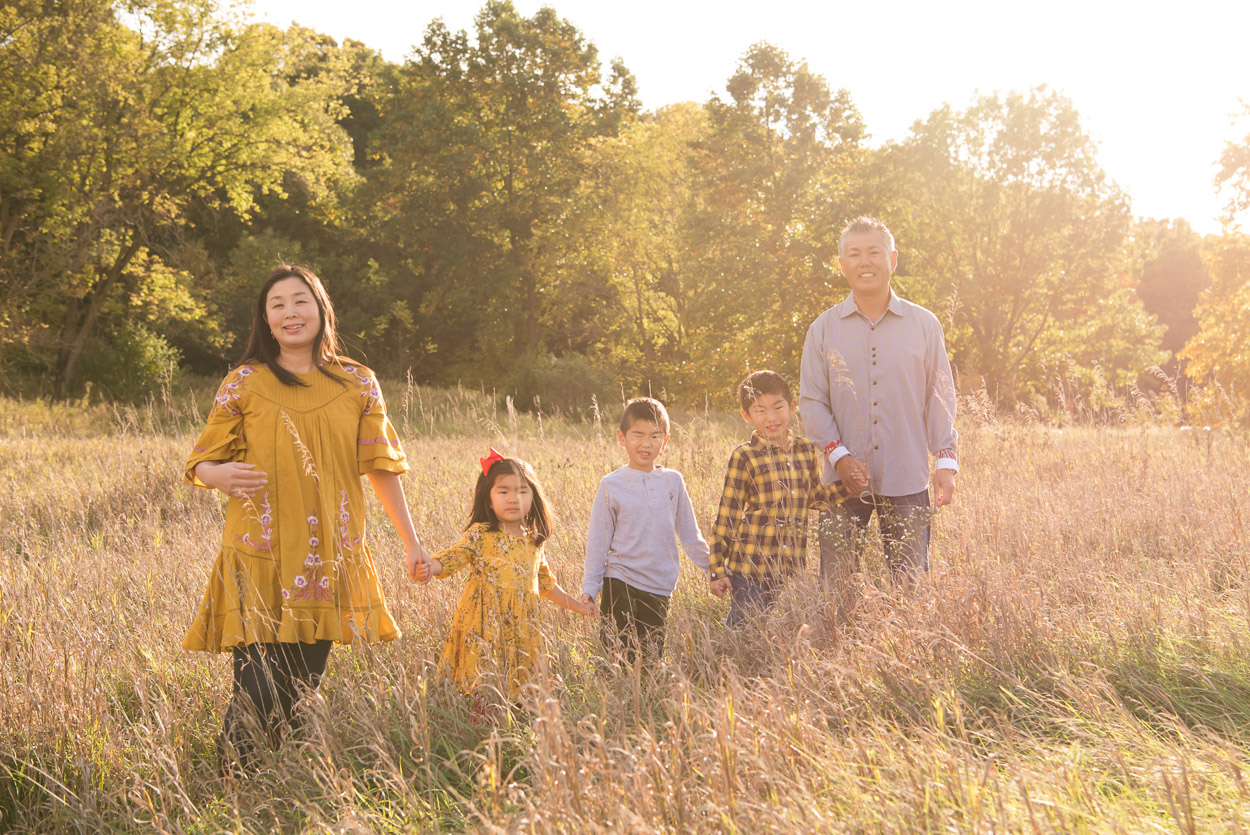 Ann Arbor Photographer, Michigan Family Photography, Family standing in a field