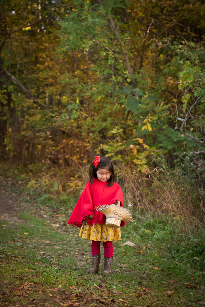 Livonia Family Photographer, Little Red Riding Hood photo shoot